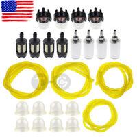 Fuel Filter Line Hose Primer Bulb Kit For Poulan Weed Eater Gas Trimmer 4 Sizes
