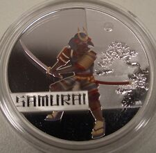 "2010 AUSTRALIA GREAT WARRIORS ""SAMURAI"" $1 SILVER PROOF COIN BOX/COA"