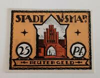 WISMAR REUTERGELD NOTGELD 25 PFENNIG 1922 NOTGELDSCHEIN (10742)