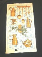 Vintage Kay Dee Linen Kitchen Tea Towel Early American Kitchen New w/ Tag