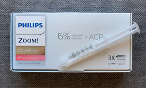 3 Syringes/Pack, NEW - Philips Zoom Day White 6% Teeth Whitening