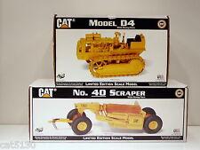 Caterpillar D4 Crawler & 40 Scraper - 1/16 - Gilson Riecke - MIB