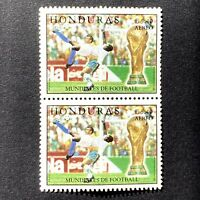 Stamp Pair Honduras Scott C1031 MNH WORLD CUP 1998 France Soccer Football L5.40