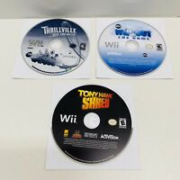 3 Game Wii Lot-Thrillville:Off the Rails,Wipeout The Game,Tony Hawk Shred-Discs