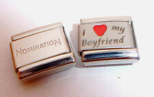 I LOVE MY BOYFRIEND 9mm Italian Charm + 1x Genuine Nomination Classic Link HEART