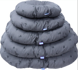 Hem & Boo Slate country oval Dog beds 5 Sizes Ideal Cushion to fit Plastic Beds