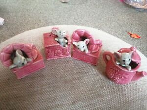 Vintage mice In Ornaments X 4