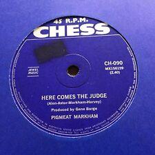 "PIGMEAT MARKHAM - HERE COMES THE JUDGE - - Rare 1968 Australian CHESS 7"" Soul"