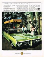 Vintage 1969 Magazine Ad Pontiac 428 V-8 Is Now Standard On Bonneville