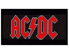 """Patch à Coudre pour Vêtements Logo Rouge sur Fond Noir """"AC/DC"""" (mm)"""