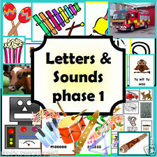 Letters and Sounds Phase 1 resource phonics literacy EYFS KS1 childminder on CD