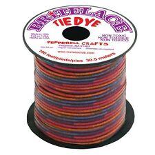 100 piedi (30 m) Spool chiaro rosso Tye Dye britelace rexlace PLASTICA allacciatura Crafts
