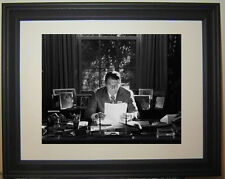 President Ronald Reagan B&W Oval Office White House  Framed Photo Picture
