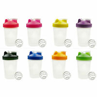 400/600ml Cup BPAfree Shake Protein Shaker Mixer Drink Whisk Ball Bottle
