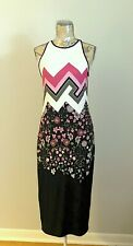 Ted Baker Geometric Floral Print  Sleeveless Maxi Dress Size 4