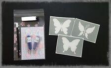 """Glitzer Tattoo Set Mini  9 teilig  """"Schmetterlinge"""""""