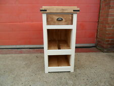 Solid Pine Narrow Rustic Open Kitchen Storage unit. Handmade
