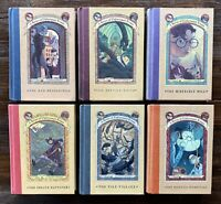 6x First Edition Lemony Snicket Books:1,2,4,6,7,8:A Series Of Unfortunate Events