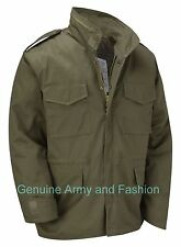 VINTAGE M65 JACKET US MILITARY ARMY FIELD COMBAT - Olive Green XS-6XL