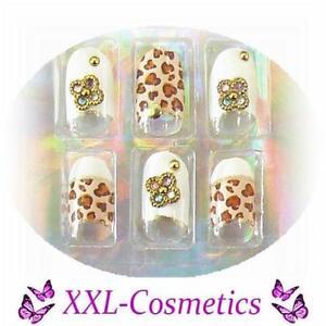 20 Airbrush French Tips Designer Oval Nails Selbstklebend Feile+Rosenholz DF-134