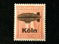 Deutsches Reich 1921 - MiNr. 182  Ziffern, privater Aufdruck (?) Zeppelin