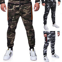 Mens Camo Skinny Trousers Slim Fit Jeans Camouflage Denim Cargo Joggers Pants