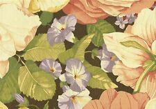 Waverly Fabric Grandiflora  Salmon Cinnamon Green Lilac Gold  Cotton Drapery