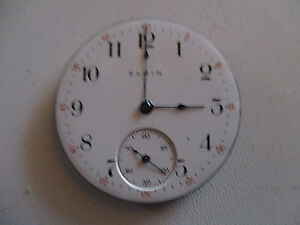6S Elgin RR  PW Dial Face w/full set Hands FLAWLESS!