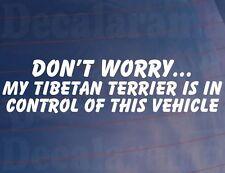 No Worry Año de Modelo Terrier Tibetano IS en el control esto coche vehículo /