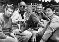 "STEVE MCQUEEN JAMES COBURN CHARLES BRONSON JOHN STURGES ""THE GREAT ESCAPE"" PHOTO"