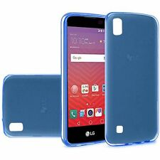 For LG X Power Frosted TPU CANDY Gel Flexi Skin Case Phone Cover Accessory