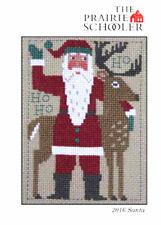 2016 Yearly Santa Reindeer Prairie Schooler Cross Stitch Pattern