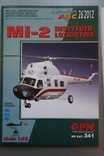 Hubschrauber Mil Mi-2,  GPM Nr 341, inkl Spantensatz, Karton-Modellbaubogen