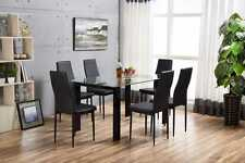 HAVANA White High Gloss Glass 6 Seater Dining Table ONLY