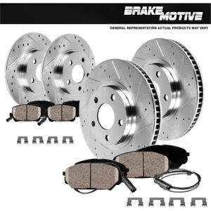For Mini Cooper Countryman Paceman Front+Rear Drilled Brake Rotors Ceramic Pads