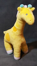 "CARTERS Just One You Plush Yellow Giraffe Wind Up Musical Toy 12"" Head Moves"