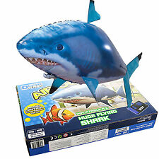 Hot!1x Air Swimmer Remote Control RC Flying Inflatable Fish Shark Blimp Balloon