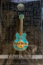 Hard Rock Cafe MADRID 2018 3-D Green CORE GUITAR Series PIN 3 Strings New w/Card