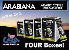 FOUR BOXES NESCAFE Instant Arabiana Arabic Coffee with Cardamom. USA Shipper.