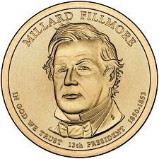 2010 MILLARD FILLMORE PRESIDENT DOLLAR P or D 1-COIN BRILLIANT UNCIRCULATED