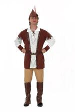 Hombre Disfraz Robin Hood Medieval Disfraz Adulto de Lujo Nuevo 42-44