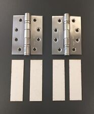 1433 102 x 76mm Eurospec Ball bearing Hinges, pair, SSS, Suitable for Fire doors