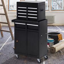 DURHAND Werkstattwagen Werkzeugschrank Werkzeugkasten mit 5 Schubladen Metall