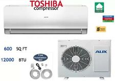 12,000 BTU Ductlless Air Conditioner, Heat Pump Mini Split 110V 1 Ton With Kit