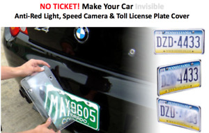 PhotoDefense Anti Red Light / Camera Flash Photo Reflect License Plate Cover NEW