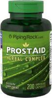 ProstAid - Complejo de hierbas, 200 Cápsulas, Saw palmetto, Pigeum y licopeno