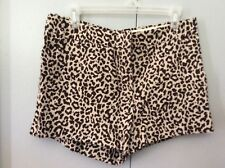 J Crew Cafe Capris Linen Animal Print Shorts size 8