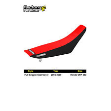 2004-2009 HONDA CRF 250 Black/Red FULL GRIPPER SEAT COVER by Enjoy MFG