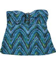 Island Escape Womens Printed Tankini Swim Top, Blue, 10