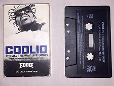 Coolio It's All The Way Live Single Vintage Cassette Tape Hip Hop 1996 Eddie